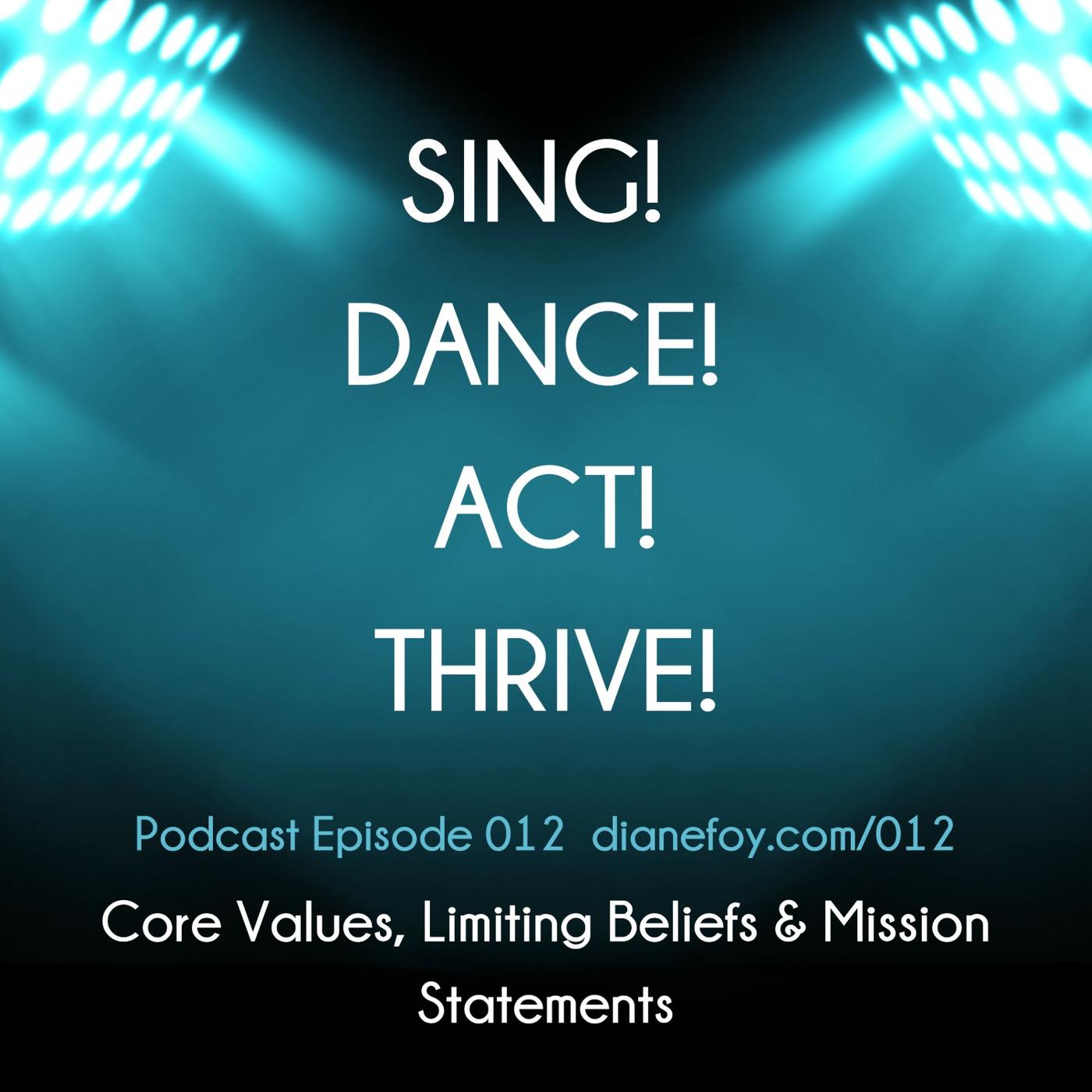 Core Values, Limiting Beliefs & Mission Statements