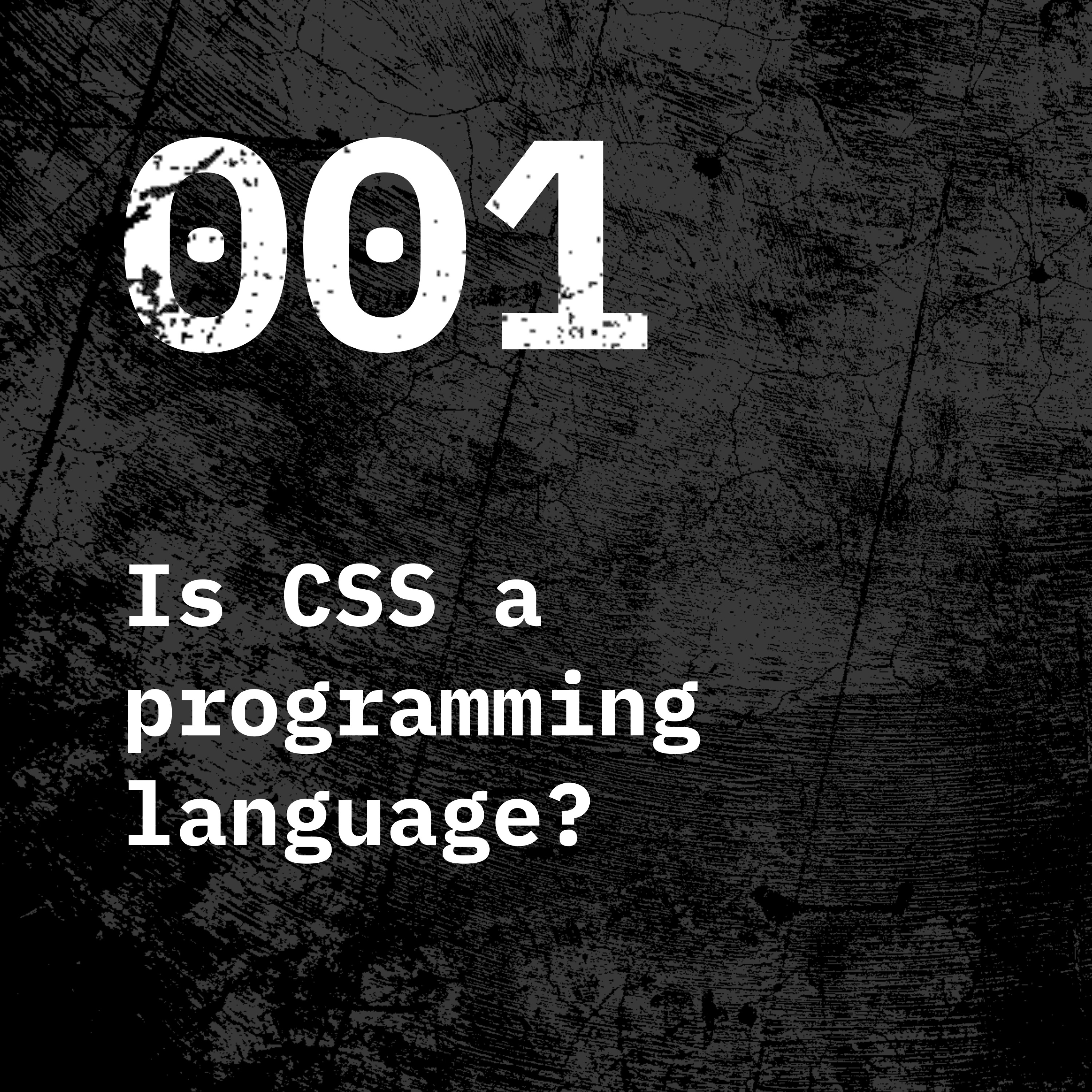 Is CSS a programming language?