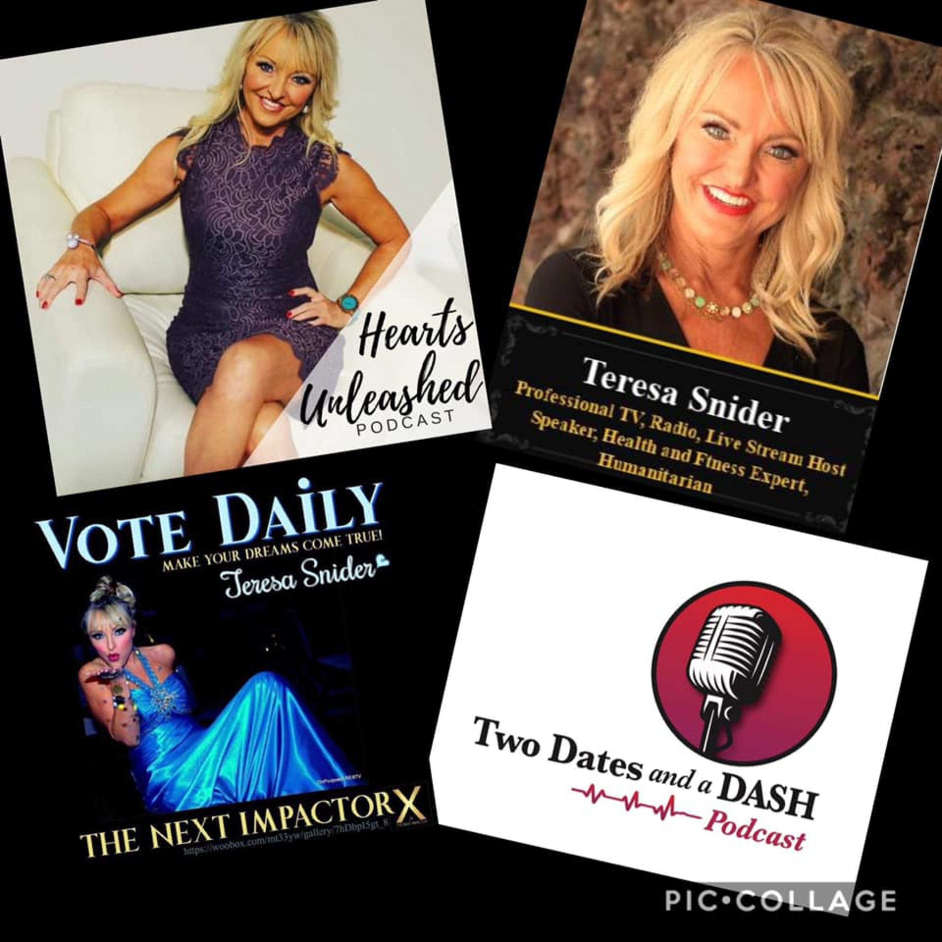 Two Dates and a Dash Podcast Episode 53: Speaker, TV, Radio and Podcast Host, Teresa Snider