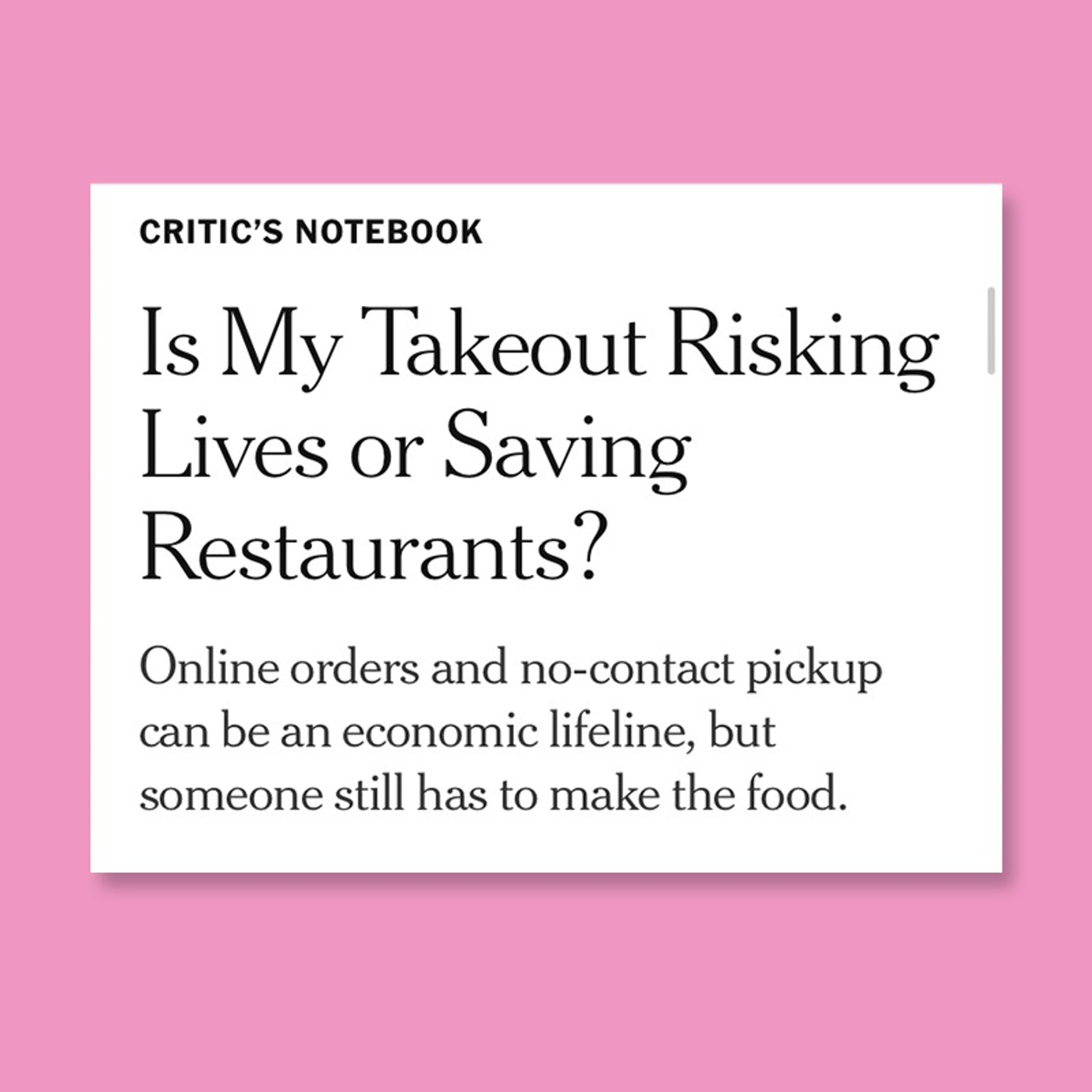 Is Restaurant Takeout Helping Or Hurting?