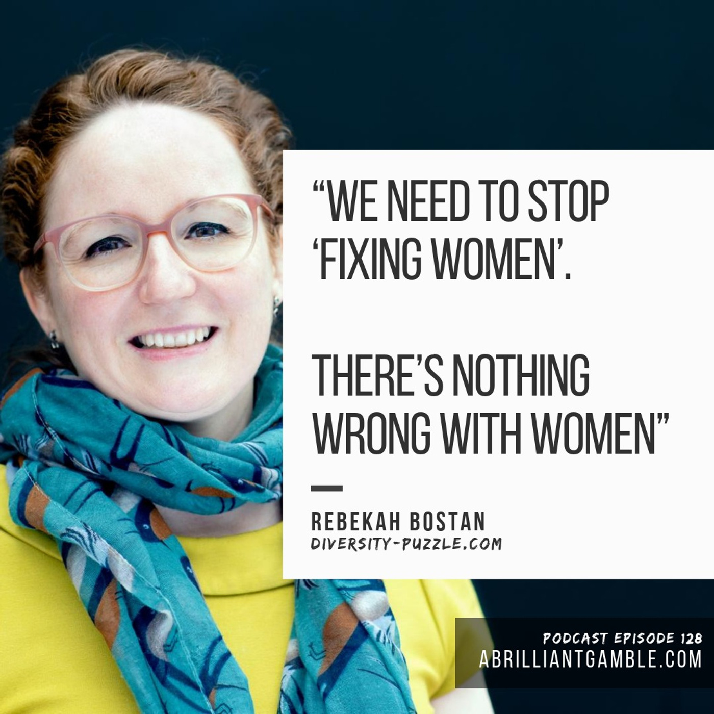 Do you have to be a dazzling outlier? with Rebekah Bostan