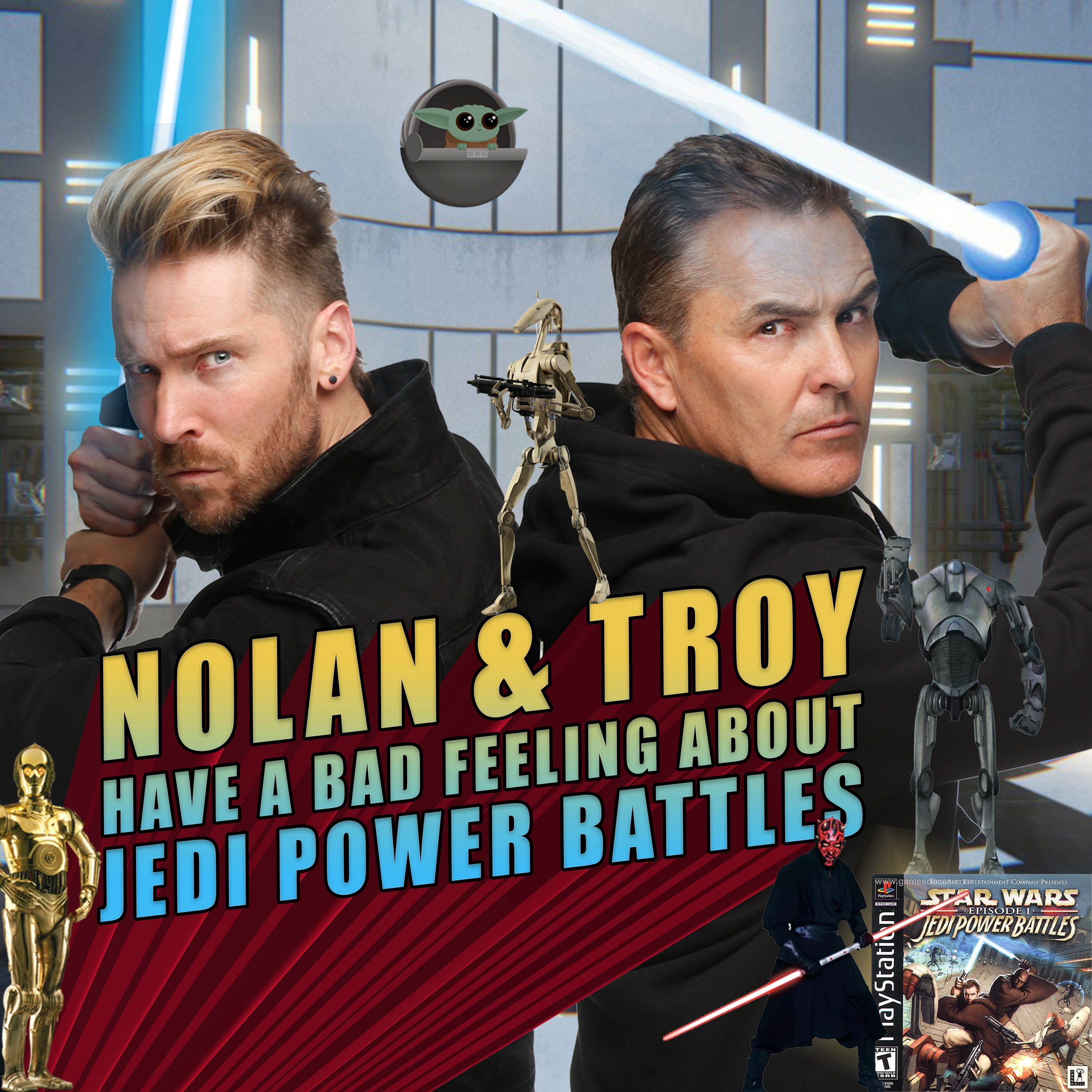 Nolan North and Troy Baker Have a Bad Feeling About Jedi Power Battles