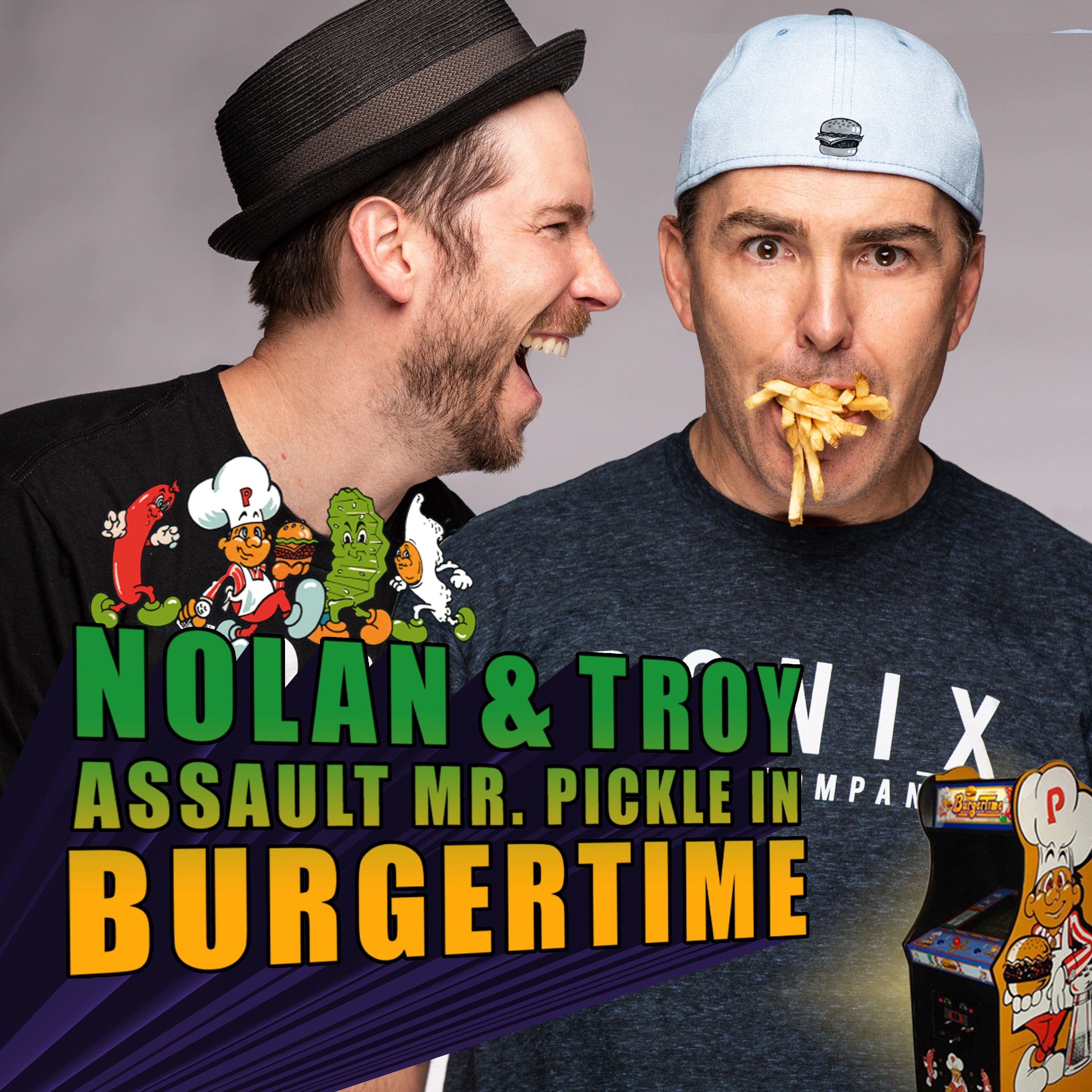 RETRO REWIND - Nolan North and Troy Baker Assault Mr. Pickle in BurgerTime