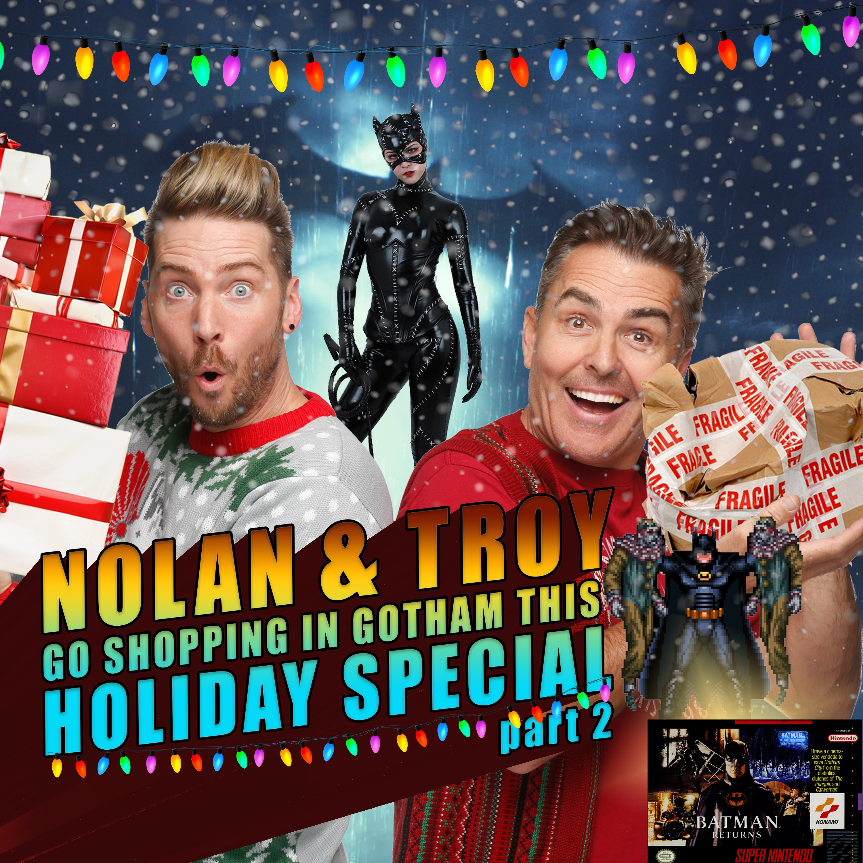 Nolan North and Troy Baker go Shopping in Gotham this Holiday Special Part 2