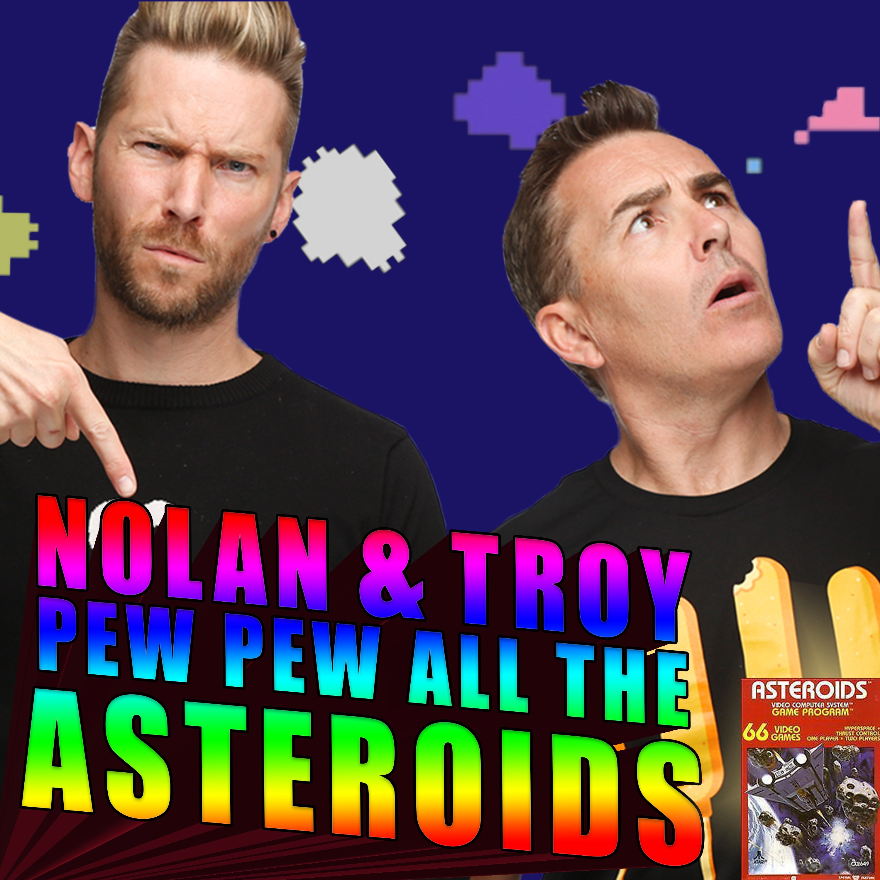 Nolan North and Troy Baker Pew Pew all the Asteroids
