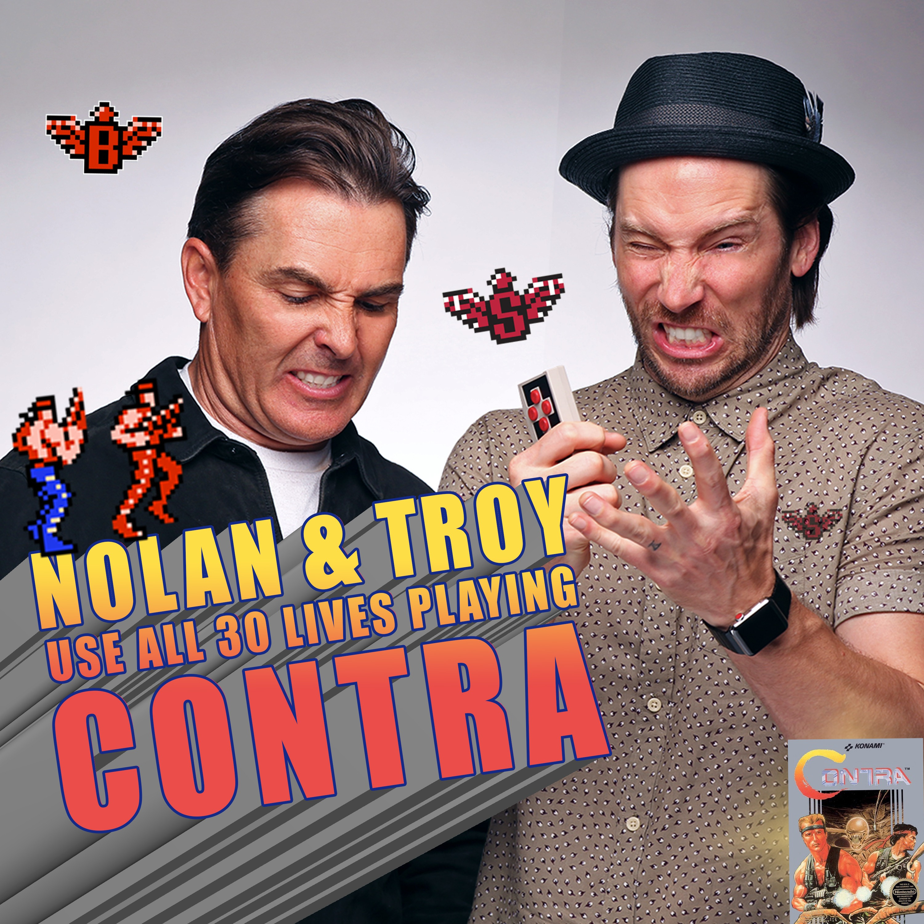 RETRO REWIND - Nolan North and Troy Baker Use All 30 Lives Playing Contra