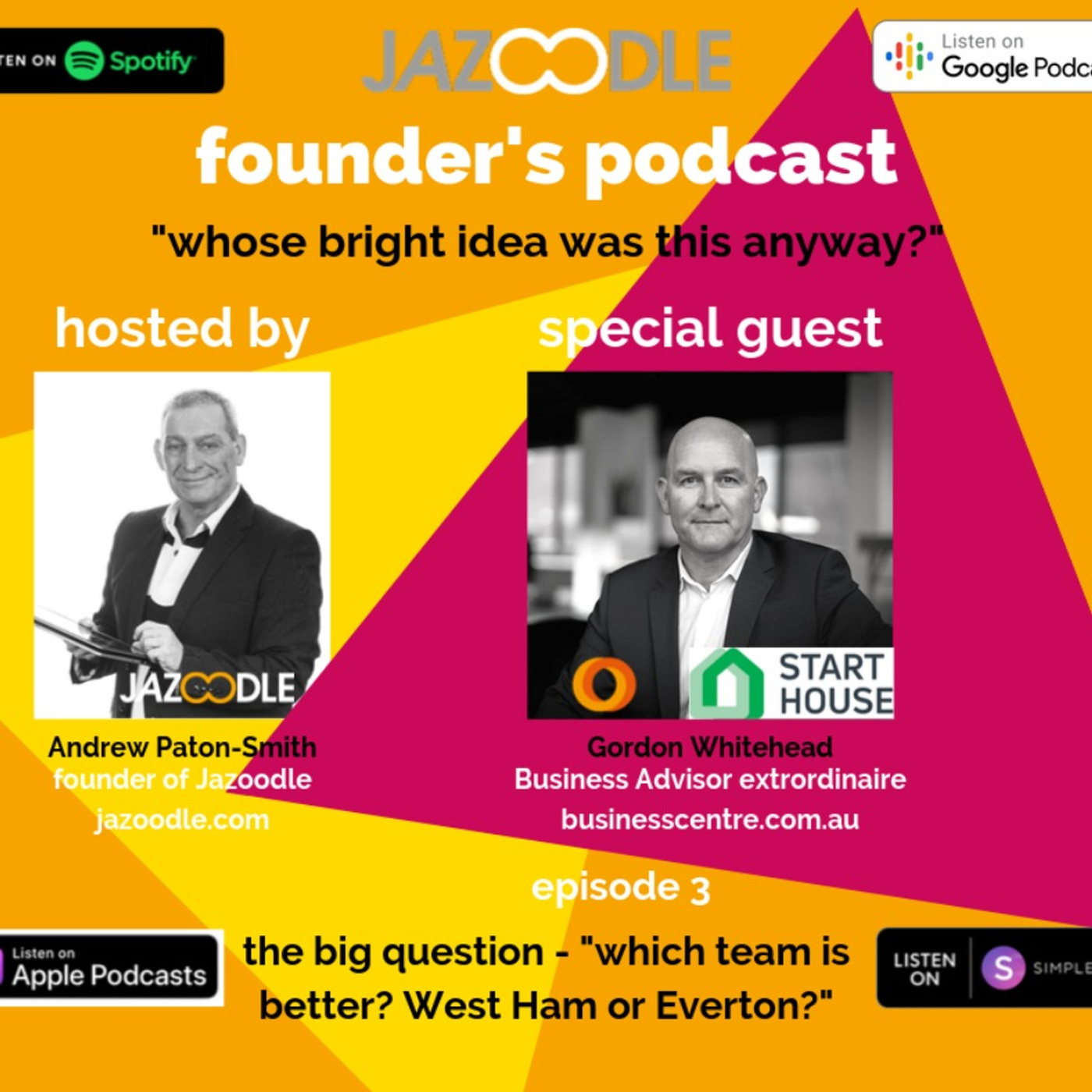 Whose bright idea was this anyway? episode 3 with special guest Gordon Whitehead