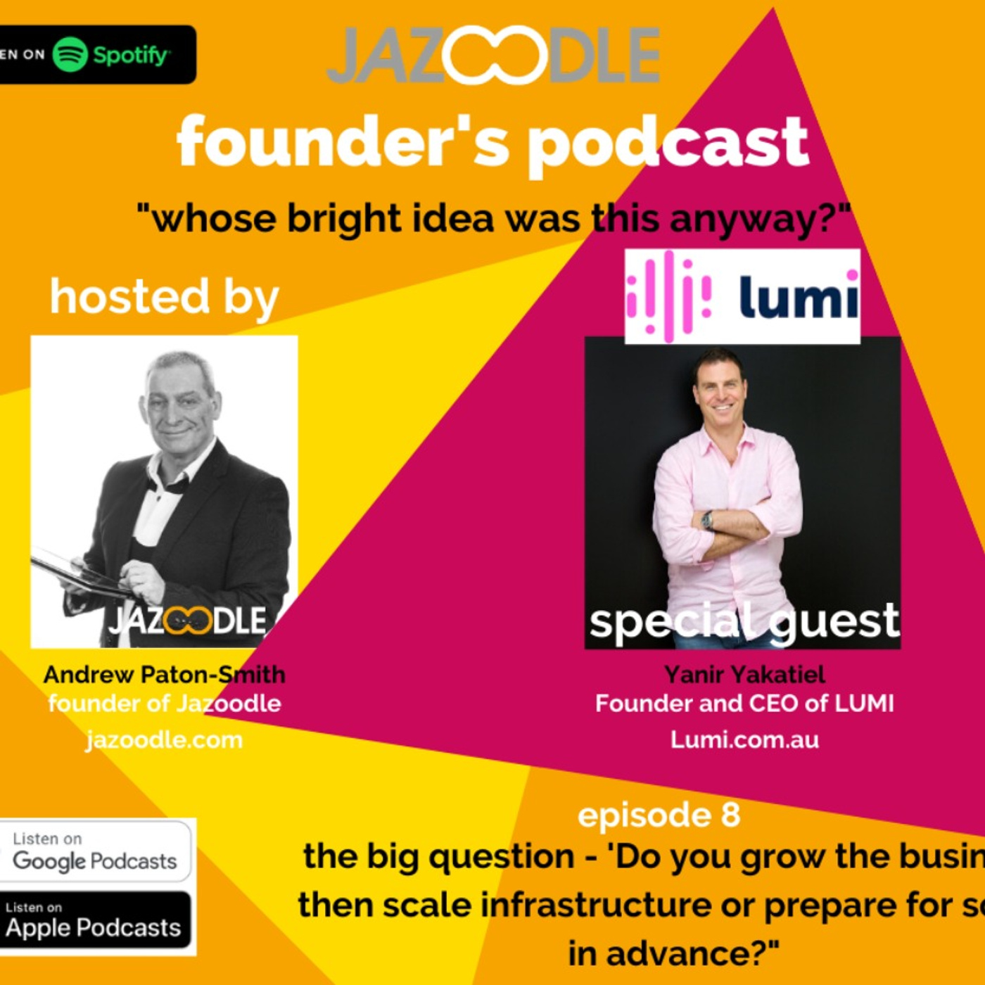 Whose bright idea was this anyway? Episode 8 with special guest Lumi Founder and CEO Yanir Yakutiel