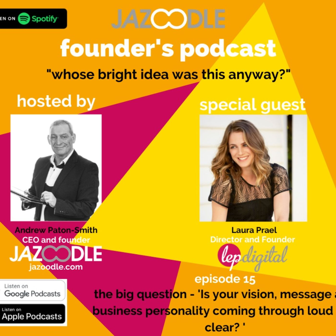 Whose bright idea was this anyway? Episode 15 with special guest: Founder and director LEP Digital, Laura Prael