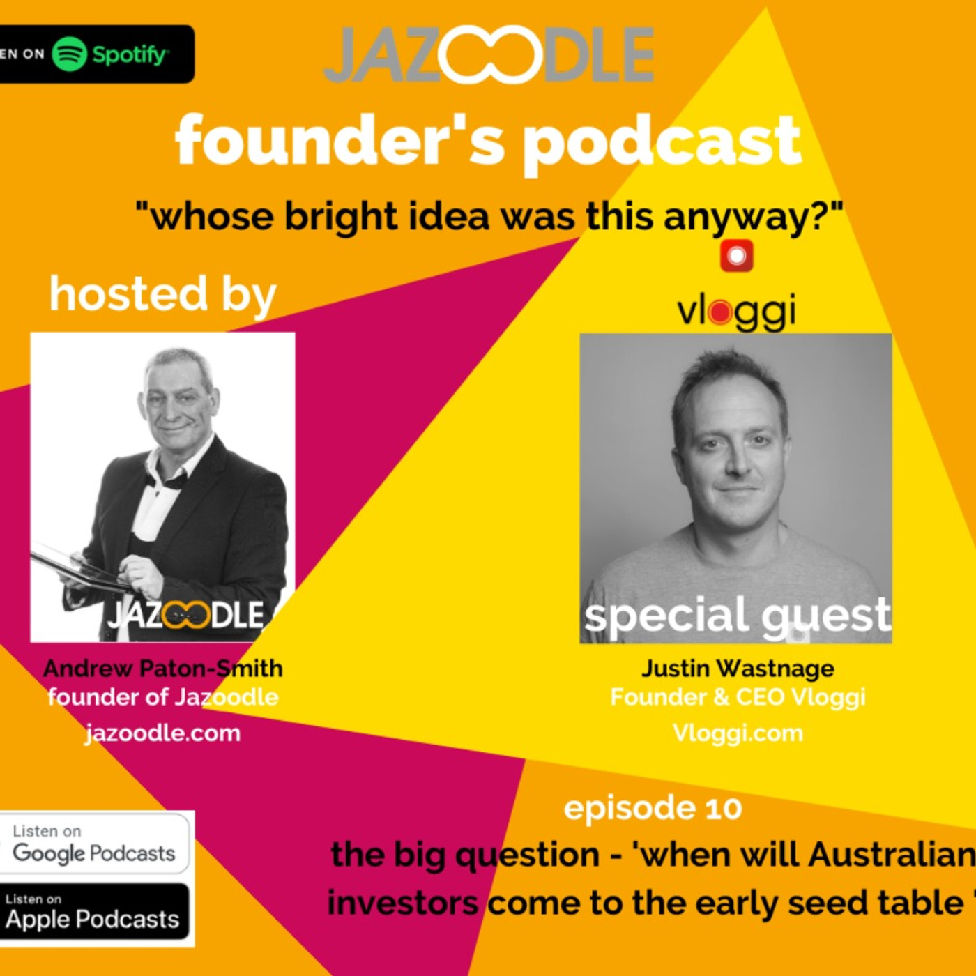 Whose bright idea was this anyway? Episode 11 with special guest Founder and CEO of Vloggi, Justin Wastnage