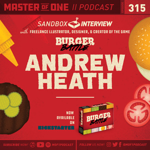 Episode 315: Interview with Freelance Illustrator & Creator of the Game Burger Battle Andrew Heath