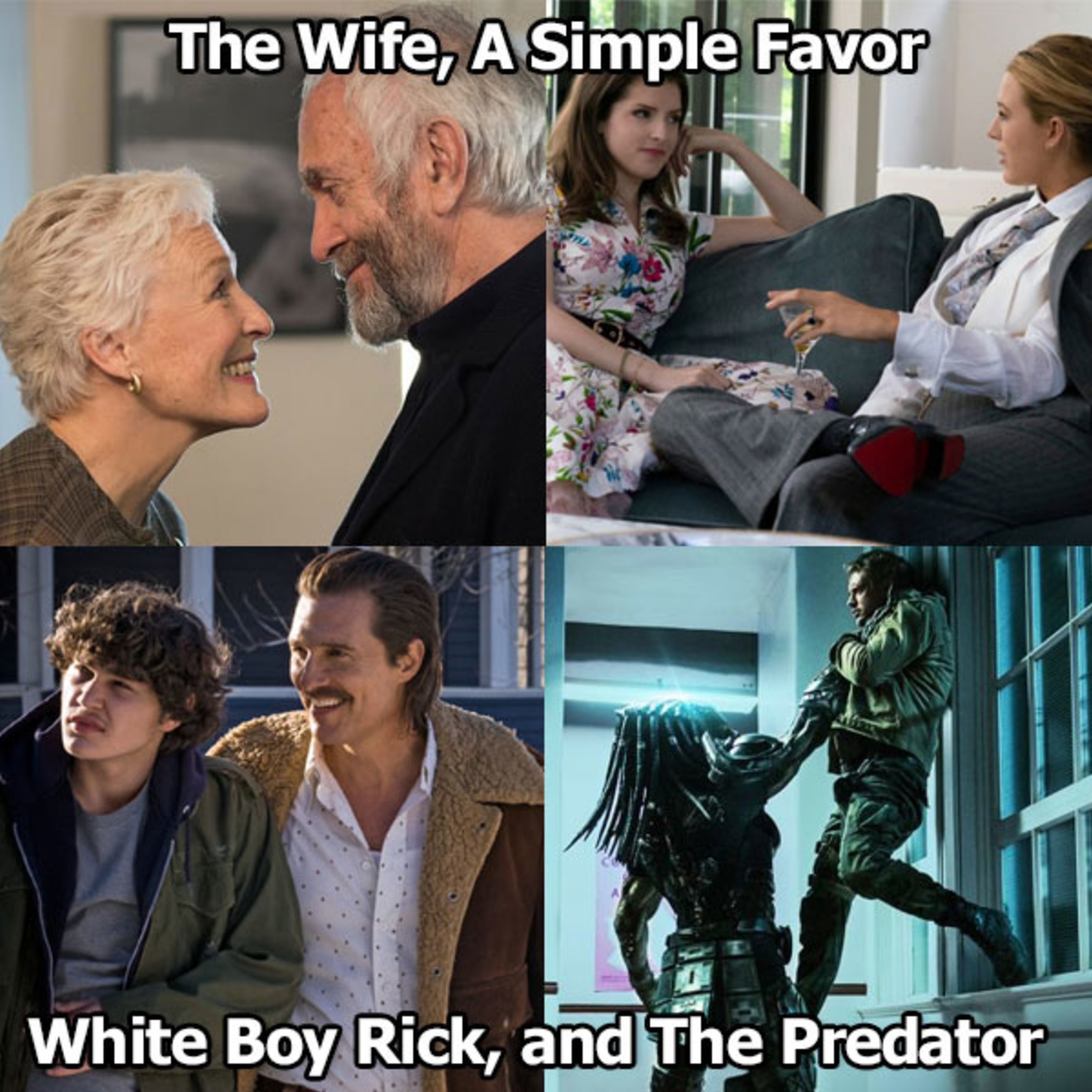 The Wife A Simple Favor White Boy Rick And The Predator Nine
